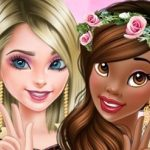 Elsa and Tiana BFF